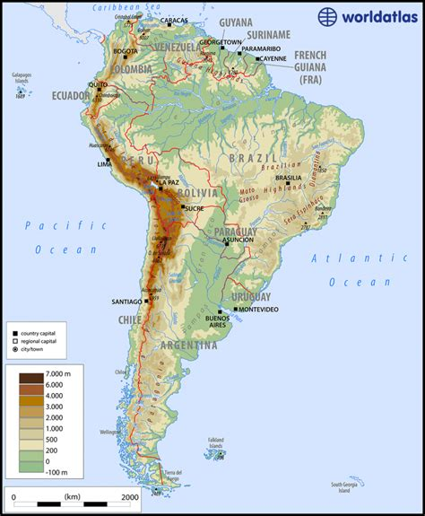 rivers of south america map south america