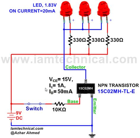npn transistor tutorial npn transistor 15c02mh tl e as a switch iamtechnical