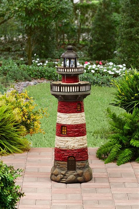 better homes and gardens outdoor lighting better homes and gardens lighthouse fountain with solar