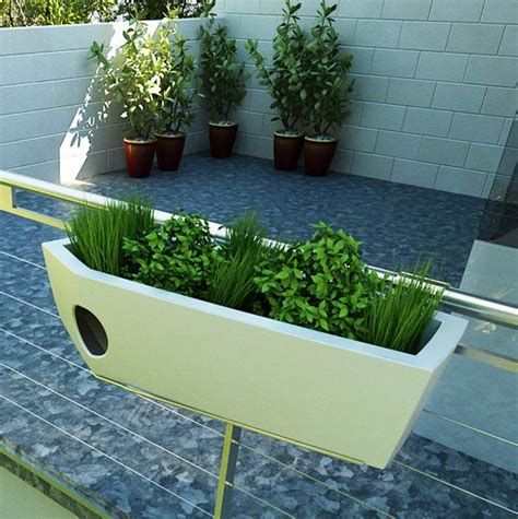 Balcony Railing Planter by Eco Chic Pet Houses Offer Creature Comforts Green Roof