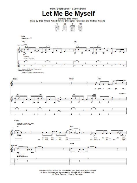 Let Me Be Myself 3 Doors by Let Me Be Myself By 3 Doors Guitar Tab Guitar