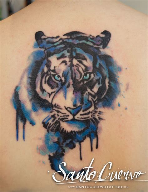 watercolor tattoos london watercolour tiger by maury decay vegan friendly