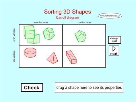 3d shape sorting worksheet app shopper sorting 3d shapes carroll diagram education