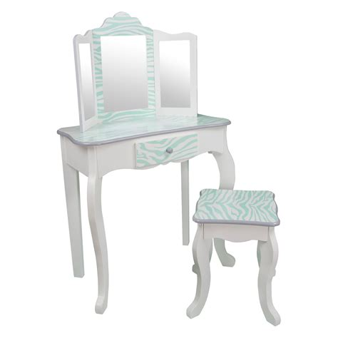 Vanity Table And Stool by Teamson Fashion Prints Vanity Table And Stool Set