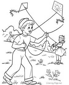 Drawing Of Kids Flying Kites Free Clipart ClipartFest  670x820 Gif sketch template