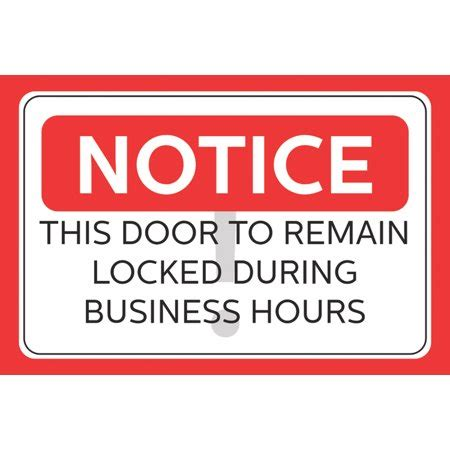 door to remain open during business hours sign webcortex trusted e commerce since 1998