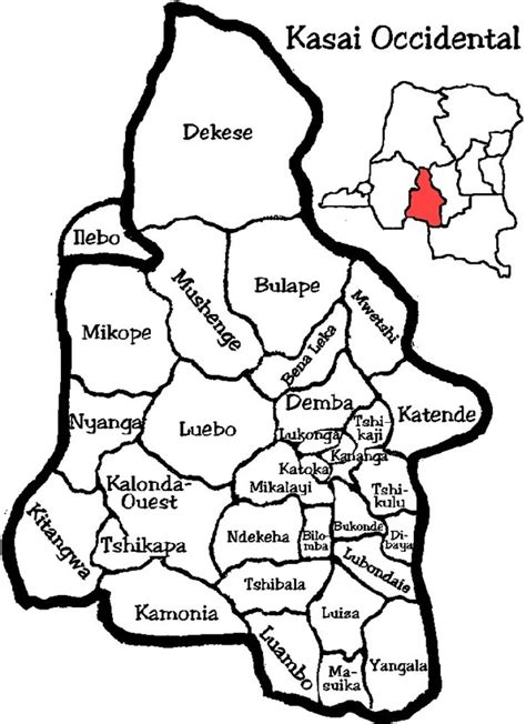 Districts of Kasai-Occidental