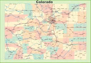 a map of colorado map of colorado with cities and towns