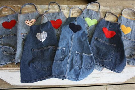 apron pattern using old jeans how to make a child s apron from your old jeans