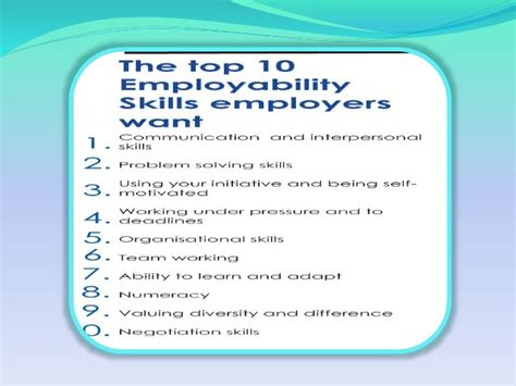 resume skills communication are you employable to know more attend quot employability