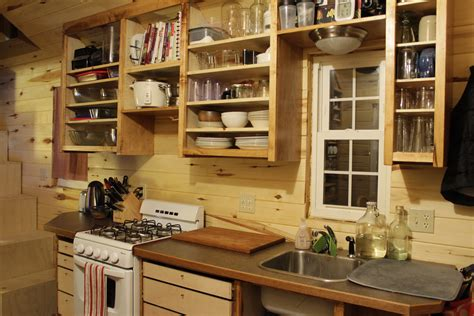 tiny house kitchen cabinets erin and dondi s off grid tiny house