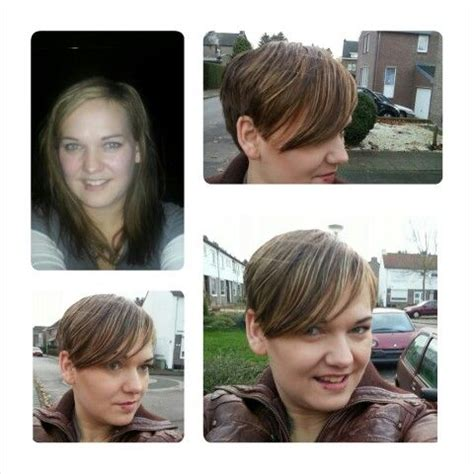 pixie cut before and after long hair to pixie cut oval face before and after cute