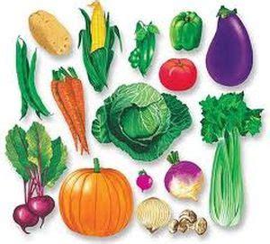 las frutas y vegetales los vegetales