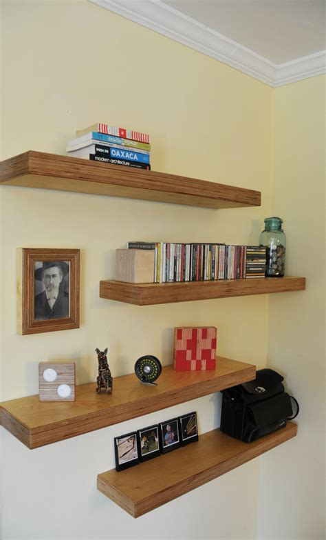 Handmade On The Shelf - handmade baltic birch plywood floating shelf