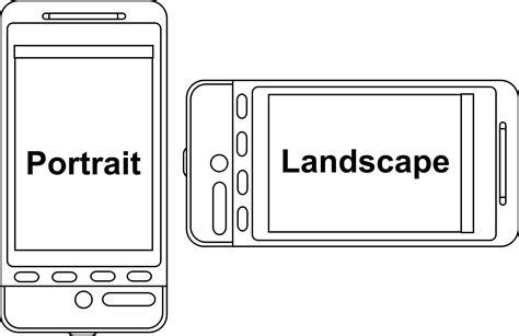 Android Layout Landscape Vs Portrait   clipart portrait v landscape device orientation