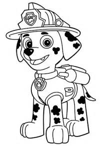 free coloring pages of paw patrol