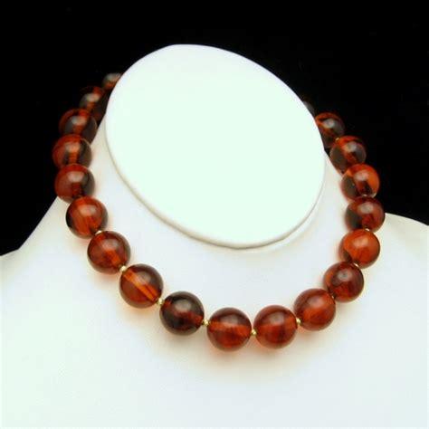 Trifari Vintage Necklace Chunky Cherry Bakelite