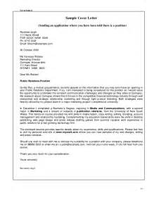 Cover Letter Part Time by Application Letter Cover Letter For Part Time