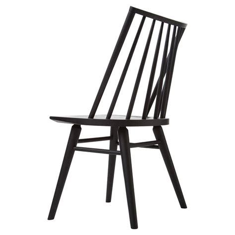 Simple Dining Chair Lara Modern Classic Black Oak Simple Dining Chair Pair Kathy Kuo Home