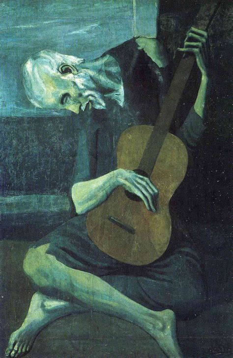 The Blind Guitarist the blind guitarist pablo picasso wikiart org encyclopedia of visual arts