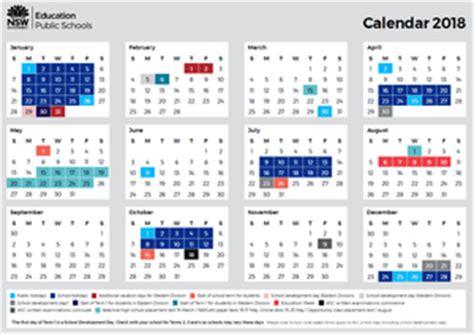 2018 Calendar Nsw Home Ryde School