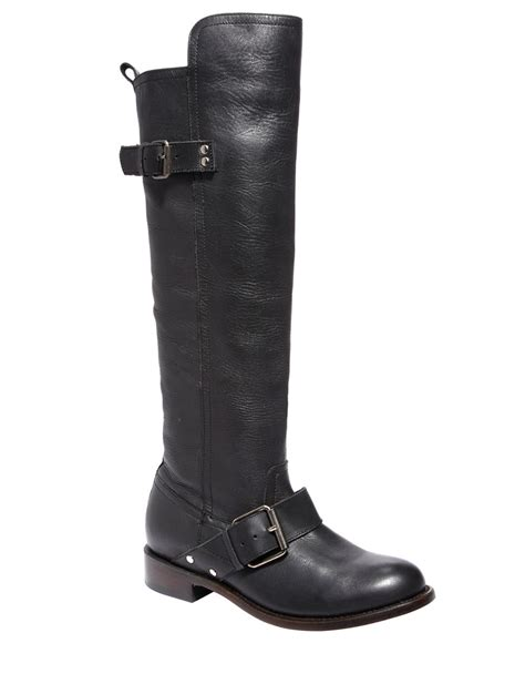 dolce vita lucianna leather boots in black lyst