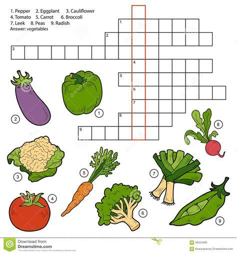 preguntas faciles para niños de disney vector el crucigrama juego para los ni 241 os sobre verduras