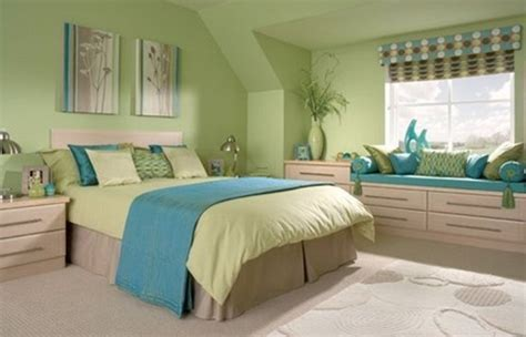 Green Bedroom Design Ideas Green Bedroom With Blue Accent Home Interiors