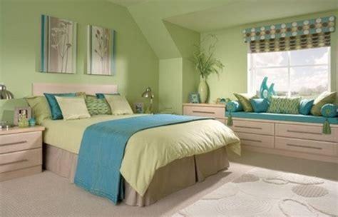green bedroom  blue accent home interiors