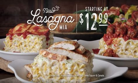 4 cheese lasagna olive garden creating your own lasagna at olive garden is finally possible i m so ready