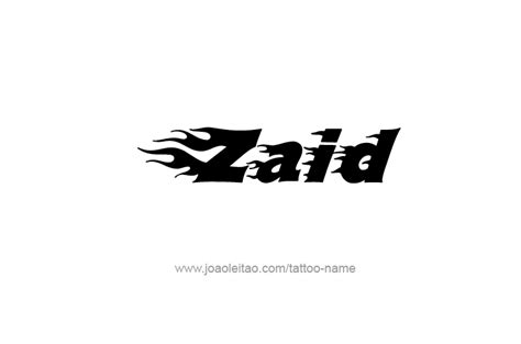 zaid name tattoo designs