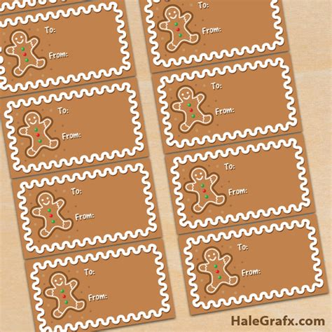 printable gingerbread man gift tags free printable christmas gingerbread gift tags