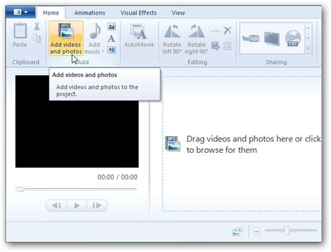 step by step tutorial for windows movie maker turn photos and home videos into movies with windows live