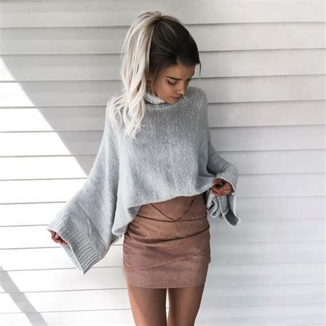 26599 White Black Mixed Blouse Blouse H Kode Vc8328 1 pull oversize femme id 233 es de looks pour l automne