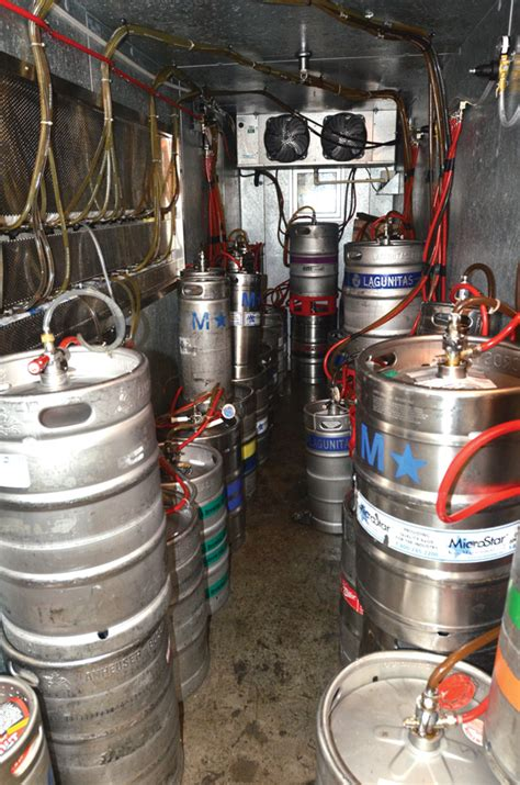 tap keg storage space pizza today