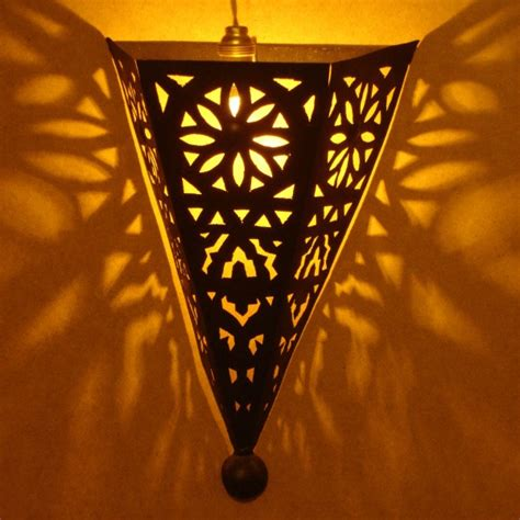 Moroccan Wall Sconce Black Metal Wall Sconce Giving A Sweet Lighting Marrakesh