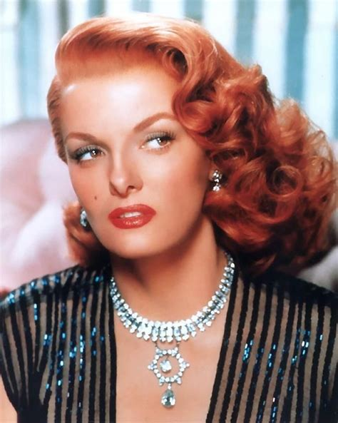 famous 40s actresses red hair red headed actress jane russell one day i will be a