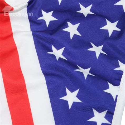 up flag pattern sexy lace up america flag pattern one piece 3d painted