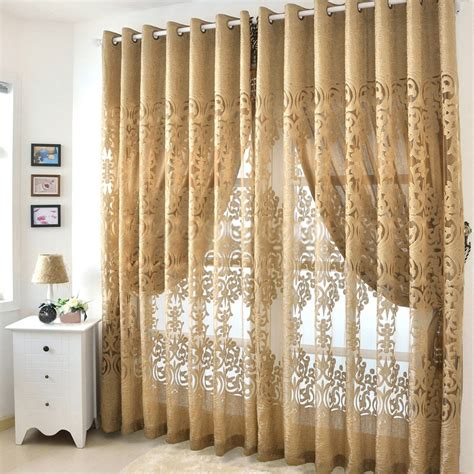 Modern Hollow Out Living Room Best Curtains