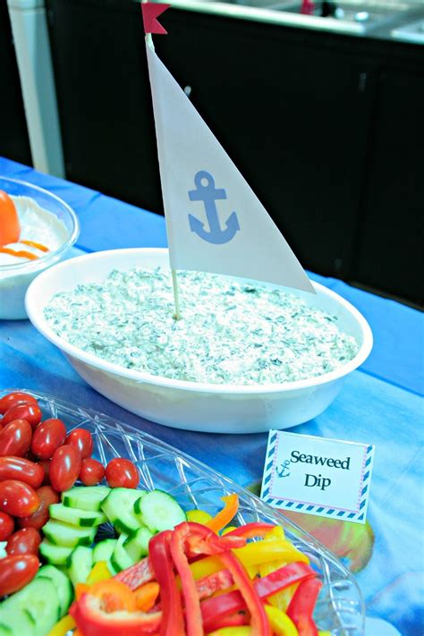 Food For Boy Baby Shower by Ahoy It S A Boy Nautical Baby Shower Orientaltrading