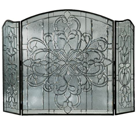 stained glass fireplace screens windows lighting