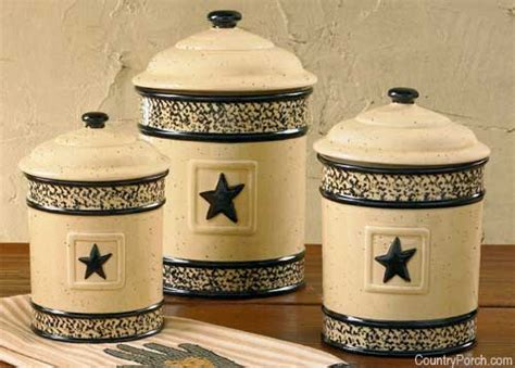 Country Kitchen Canisters Sets by Black Star Canister Set