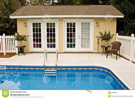 Backyard Pool House Stock Image Image 8480001 Backyard Pool House
