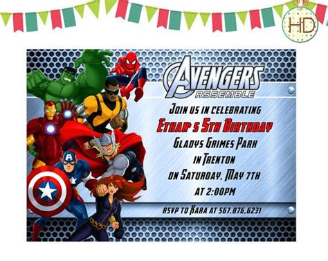 avengers template for birthday invitation avengers birthday invitation avengers assemble by