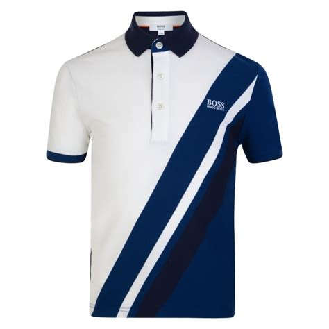 White And Blue Shirt boys white and blue polo shirt with white logo