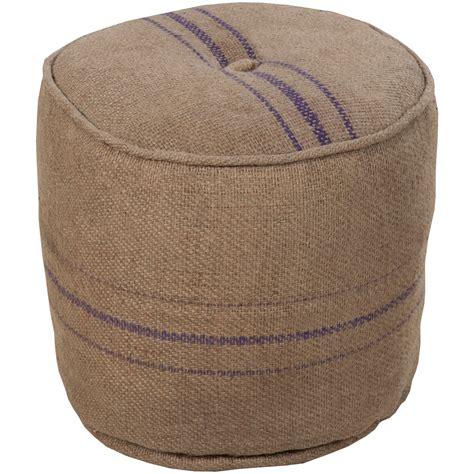 round pouf ottoman grain sack round pouf ottoman surya pouf ottomans living