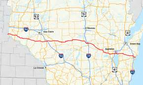 us highway map route 10 u s route 10 in wisconsin
