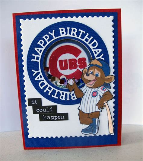 Chicago Cubs Birthday Card 17 Best Images About My Handmade Cards On Pinterest