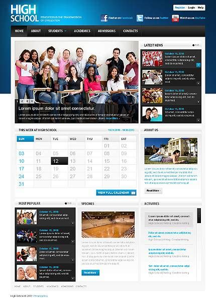 Best Education Website Templates Entheos School Website Templates Free Html5