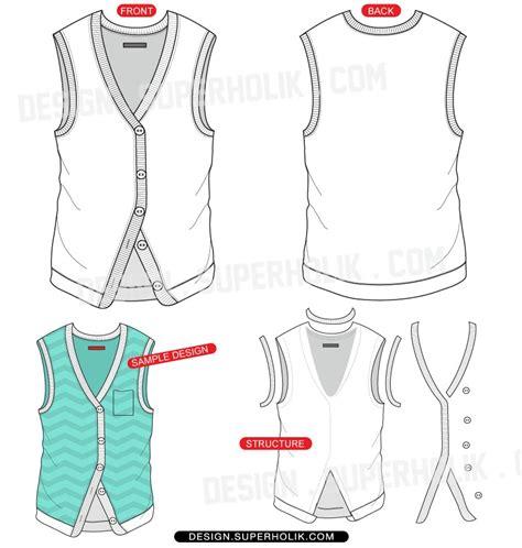 vest top template vest vector template hellovector